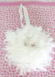 decorating ideas awesome picture of round white feather wreath