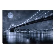startonight canvas wall art brooklyn bridge new york usa design