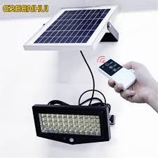 solar powered remote control solar light 44 led waterproof ip65