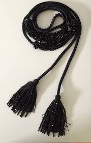 black beaded rope necklace images 1990s yves saint laurent black beaded rope and tassel necklace jpeg
