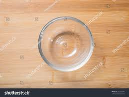 Wooden Table Top View Empty Glass Bowl On Wooden Table Stock Photo 335525906 Shutterstock