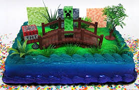 minecraft cake topper minecraft creeper themed birthday cake topper set