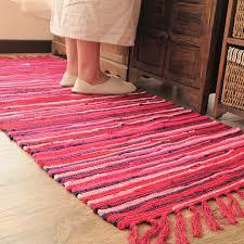 Kilim Bath Mat Kilim Solid 100 Cotton Bathroom Living Room Carpet Geometric