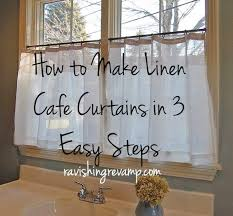 Linen Cafe Curtains How To Make Linen Cafe Curtains In 3 Easy Steps In The Plaid I