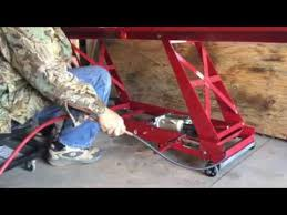 scissor lift table harbor freight harbor freight 1 000 lb motorcycle lift air hydraulic conversion