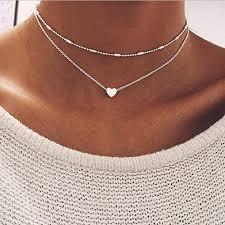 heart pendant choker necklace images Wholesale whole salen277 heart pendant choker necklaces for women jpg