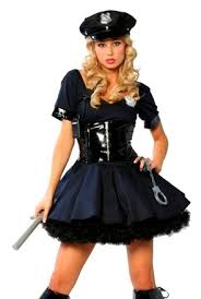 womens halloween costumes lady cop police officer woman