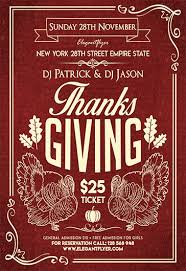 thanksgiving day flyer psd template cover by