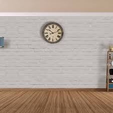 white brick self adhesive wallpaper by the binary box