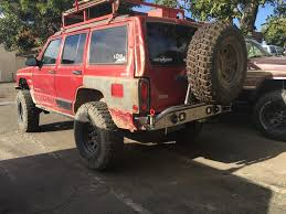 jeep cherokee lights 84 to 01 jeep cherokee xj rear bumper with tire carrier lights and