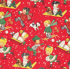 vintage christmas paper vintage christmas wrap children in snow david flickr