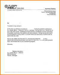 sample reference letter format example letter of recommendation