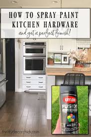 tips for spray painting kitchen cabinets how to spray paint kitchen hardware and save tons of money