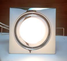 marine boat square led swivel ceiling light flush mount chrome