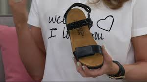 naot leather embellished sandals lisa on qvc youtube