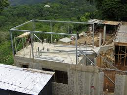 building our house week 9 costa rica leap as you can imagine building with these panels is much quicker than with traditional concrete block installing electrical and plumbing lines