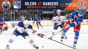 pre game report oilers rangers