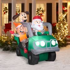 jeep christmas ornament 6 u0027 santa atv airblown inflatable christm walmart com
