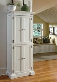 Kitchen Corner Storage Cabinets Homey White Wooden Pantry Cabinet Design Ideas At Kitchen Corner