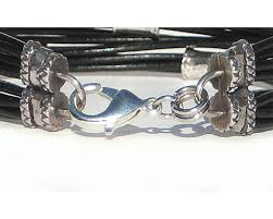 leather with silver bracelet images Multi strand brown leather cord bracelet with silver beads lucky jpg