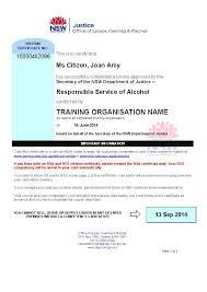 interim certificates liquor u0026 gaming nsw