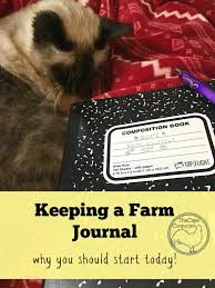 keeping a farm journal track animals and backyards