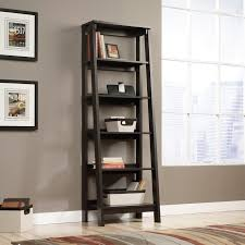 Bookcase With Ladder Sauder Trestle 5 Shelf Bookcase Jamocha Wood Hayneedle