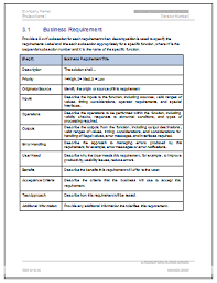 business requirements document template free business template