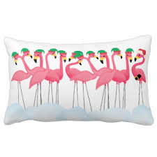 christmas flamingo pillows decorative u0026 throw pillows zazzle