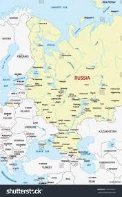 Barents Sea Map European Russia Map Crimea Stock Vector 182839091 Shutterstock