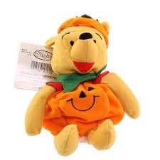 winnie the pooh pumpkin mini bean bag plush disney toy fall