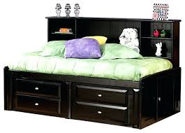 twin bed with bookcase headboard and storage bookcase headboard