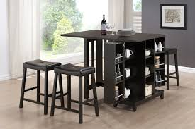 Small Bar Table And Chairs Adorable Kitchen Bar Table With Storage With Square Kitchen Island