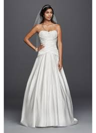 satin beaded lace applique a line wedding dress david u0027s bridal