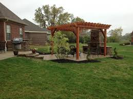 Pre Built Pergola by Davenport Project Pergola Fireplace Kitchen In Centerville Oh