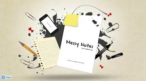 messy notes prezi template youtube