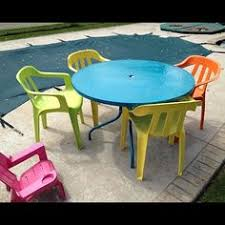 Plastic Patio Furniture by Spray Paint Plastic Chairs Spray Painting Patios And Sprays