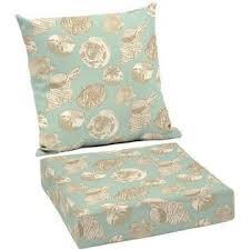 better homes u0026 gardens seashells outdoor patio deep seat cushion
