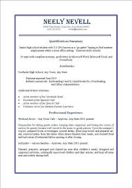 resume examples for first job high student resume example