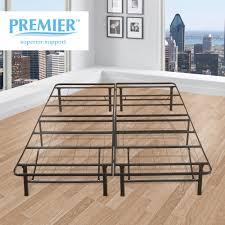 King Mattress Foundation Granrest 16 Inch Safe Round Corner Platform Metal Bed Frame With