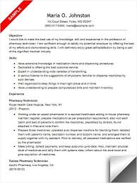 Resume Sample For Pharmacy Assistant by Pharmacy Technician Resume Template