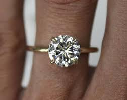 8mm diamond 2 carat diamond ring etsy