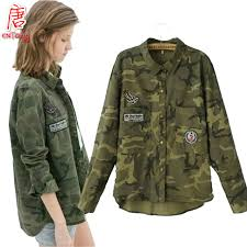 camo blouse clearance camouflage blouse camo casual blusa femme clothes