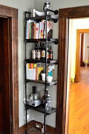 Black Pipe Bookshelf Shelves Amazing Industrial Corner Shelf Industrial Corner Shelf