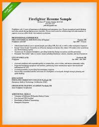 Sample Resume For Firefighter Position by Emt Resume Resume Cv Cover Letter