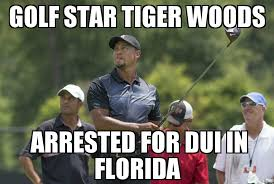 Dui Meme - tiger woods arrested for dui memenews