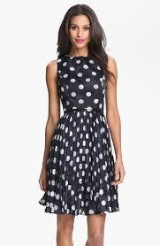 adrianna papell burnout polka dot fit u0026 flare dress regular
