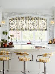 interior plaid modern window treatments for kitchens with frosted