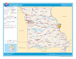 State Of Jefferson Map Large Detailed Map Of Missouri State Missouri State Large