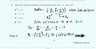 algebra i eoc staar 2013 pt i 1 5 texas achievement test youtube